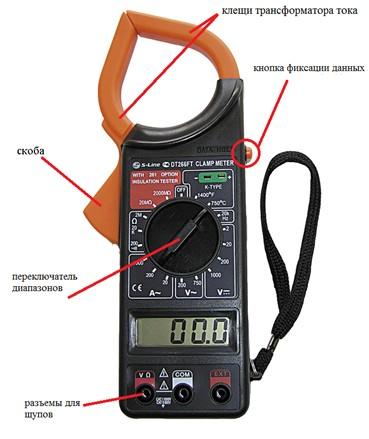 Функциональные элементы на электроизмерительных клещах