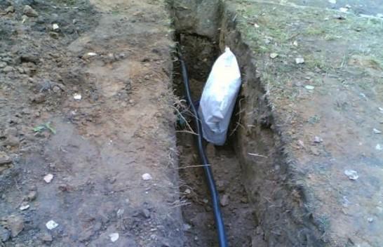 кабель под землей