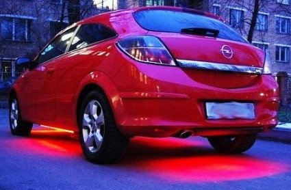 готовый вариант светодиодной ленты в авто