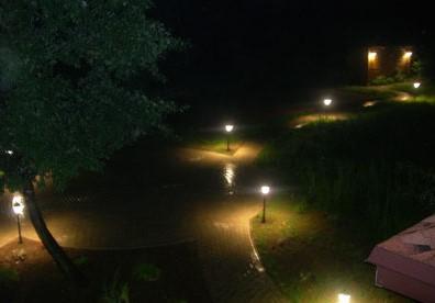 как подключить светильники на улице