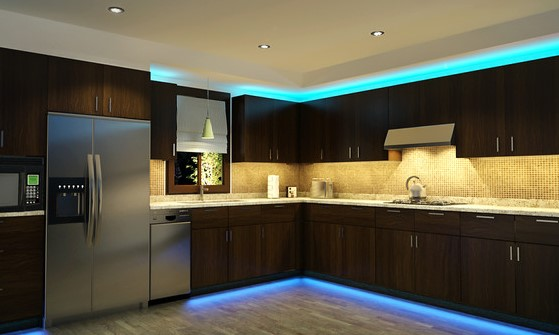 кухня светодиодное освещение