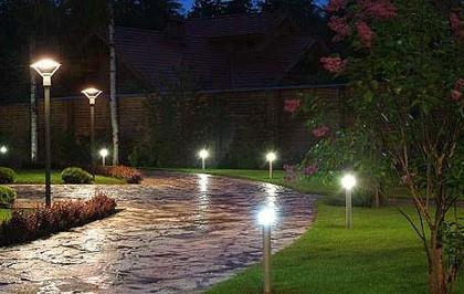 садовая дорожка освещение