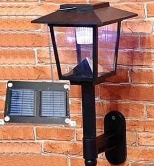светильники солнечные на стену