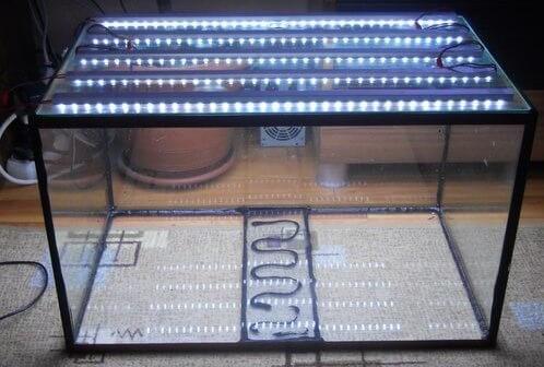светодиодная лента для аквариума установка