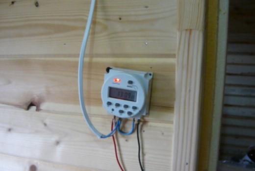 устанавливаем терморегулятор