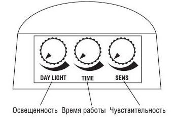 Как настроить датчик движения на прожекторе