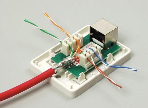 Подключение интернет розетки