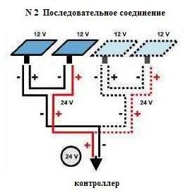 Смешанное соединение солнечных батарей