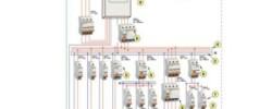 Схема электропроводки в трехкомнатной квартире