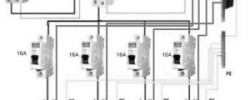Схема подключения выключателя света с индикацией