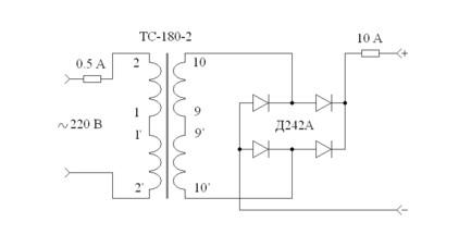 схема самодельного зарядного устройства для авто
