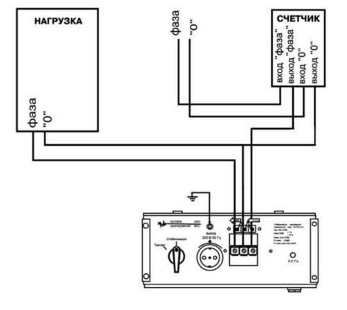 Схема подключения однофазного стабилизатора к сети 220 Вольт