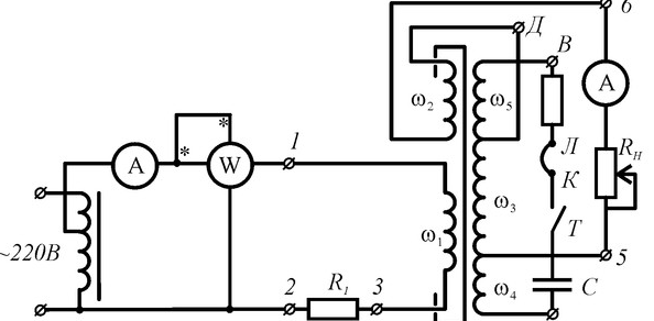 Схема феррорезонансного стабилизатора