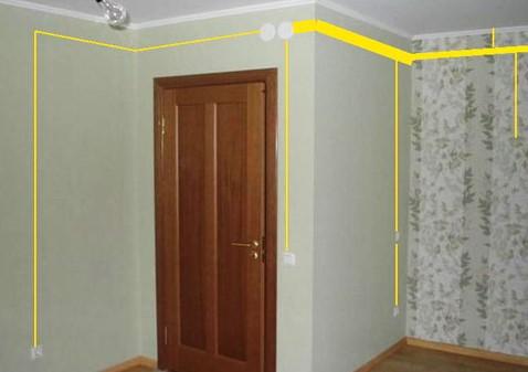 расположение проводки в квартире
