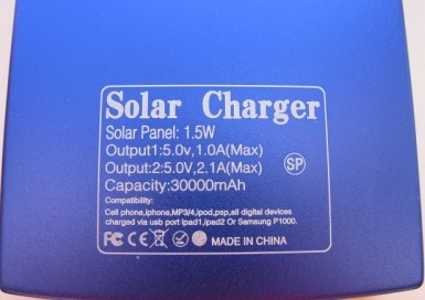 солнечная батарея Power Bank характеристики