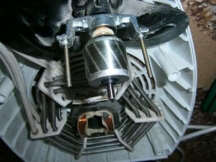 Мотор на тепловентиляторе