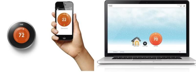 Управление термостатом Nest с помощью смартфона