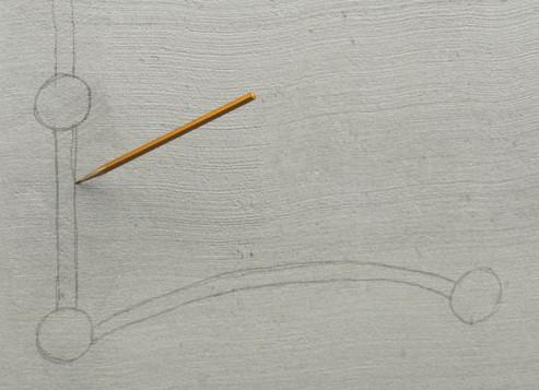 Отметка штроб на стене