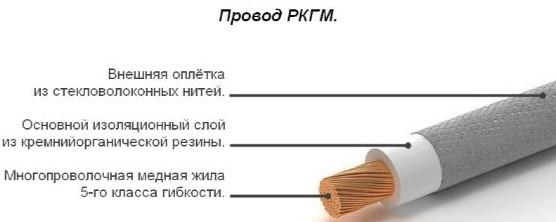Провод РКГМ конструкция