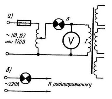Схема проверки силового трансформатора