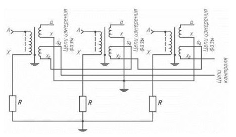 Схема сухого трансформатора