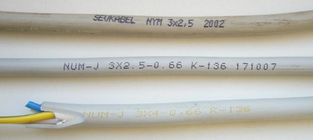 разновидности кабеля NYM