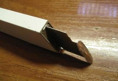 нож электрика в рейку