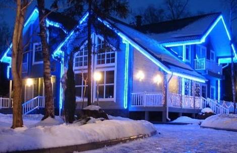 подсветка дома светодиодной лентой