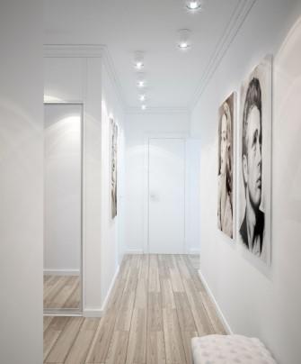 расположение светильников в коридоре