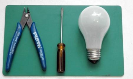 материалы для разборки лампы
