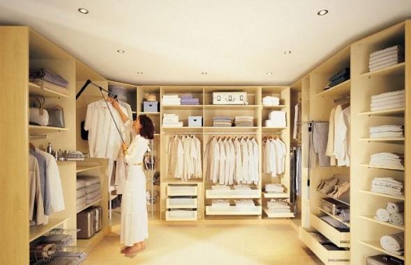 освещение в гардеробе
