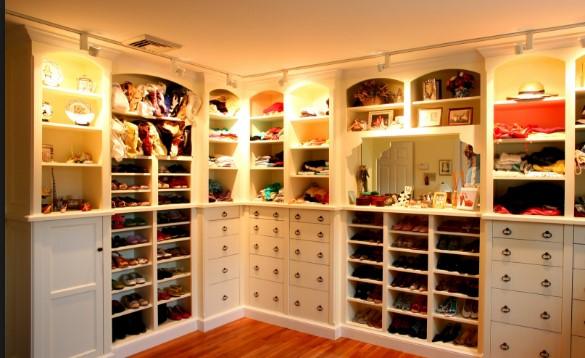 освещение в гардеробной