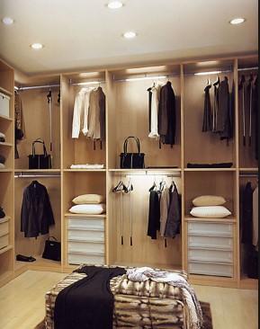точечные светильники в гардеробной