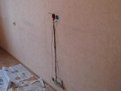 Удлинение провода для переноса розетки