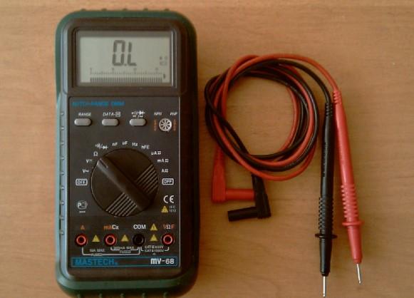 проверяем провода мультиметром