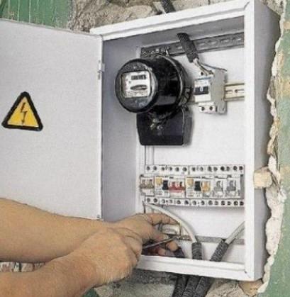 Отключение электричества на электрощитке