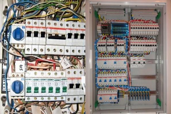 Правильное подключение проводов в распределительном щитке