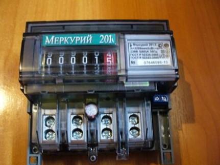 счетчик Меркурий 201 без панели