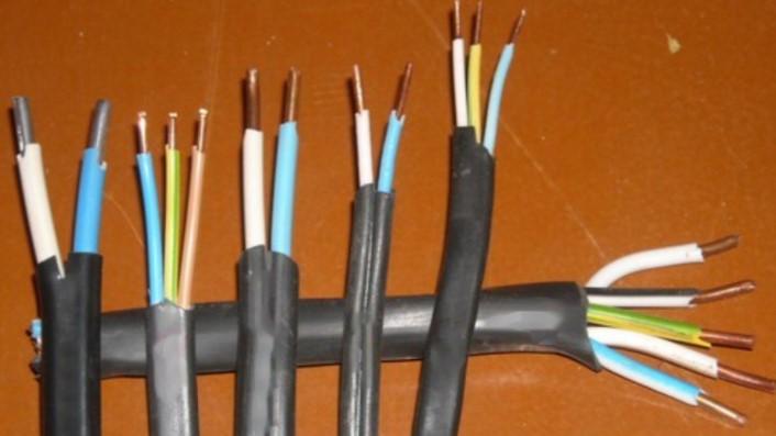 три жилы кабеля