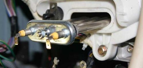 Демонтаж нагревателя из стиральной машины