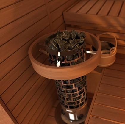 Пристенная электрическая печь для бани