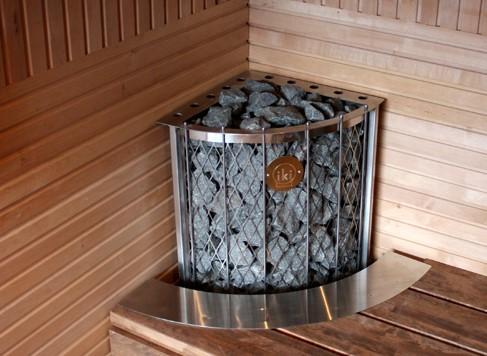 Угловая электрическая печь для бани