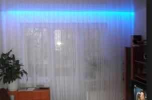 подсветка штор светодиодной лентой