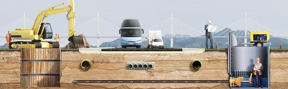 Метод прокола грунта под дорогой