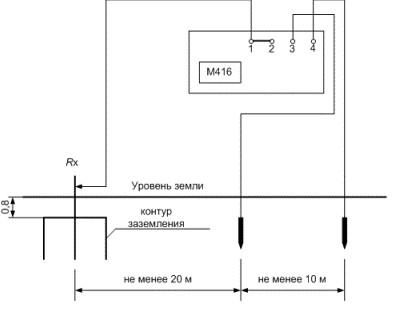 Схема подключения М-416