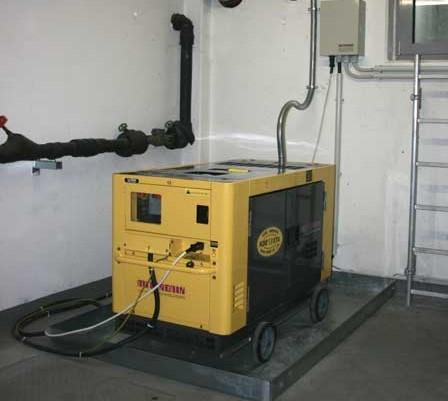 Дизель генератор в помещении