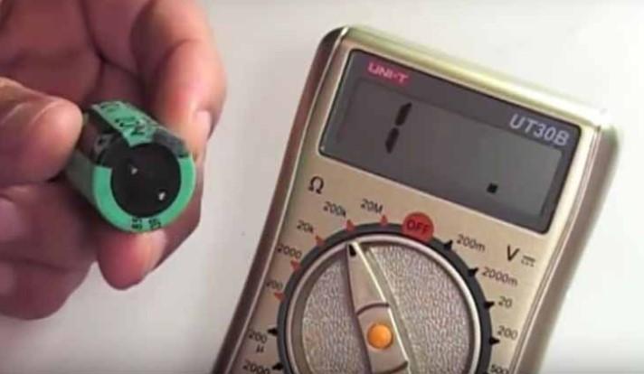 Как проверить мультиметром конденсатор