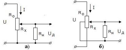 Схема включения потенциометрического датчика