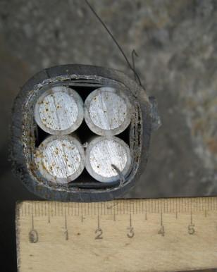 внешний вид бронированого кабеля АВБбШв