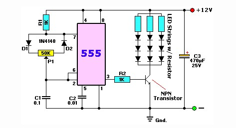 Схема диммера для светодиодных ламп